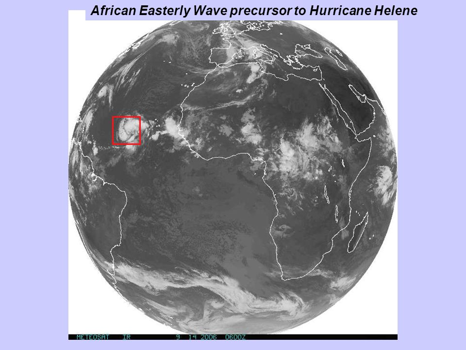 African Easterly Wave precursor to Hurricane Helene