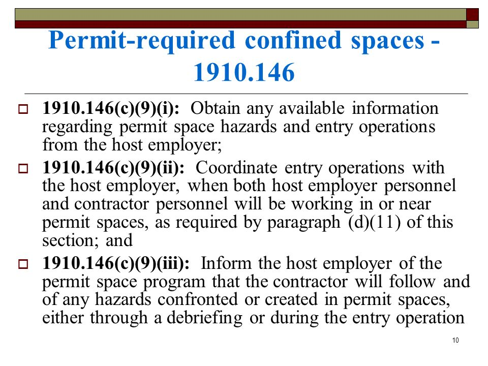 Permit-required confined spaces - 1910.146