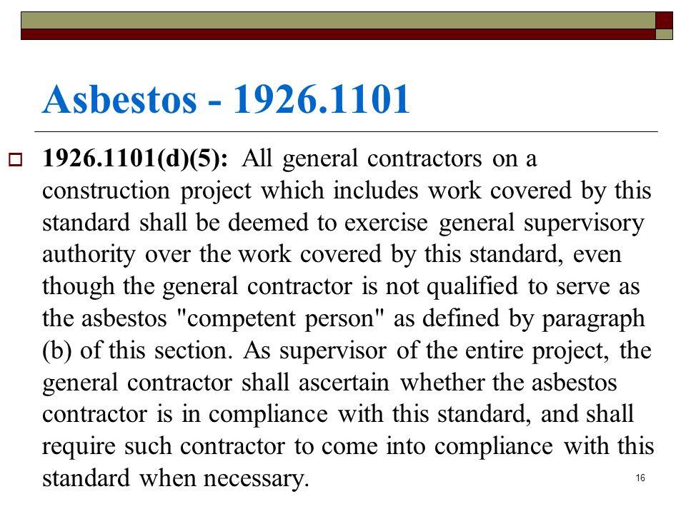 Asbestos - 1926.1101