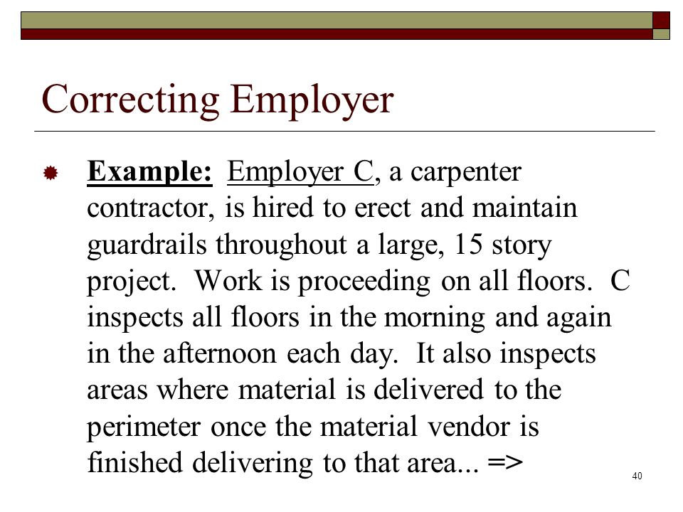 Correcting Employer