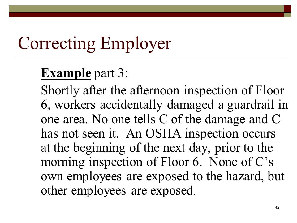Correcting Employer Example part 3: