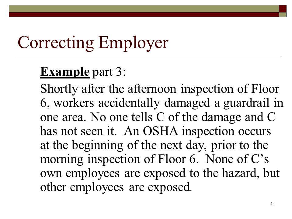 Correcting EmployerExample part 3: