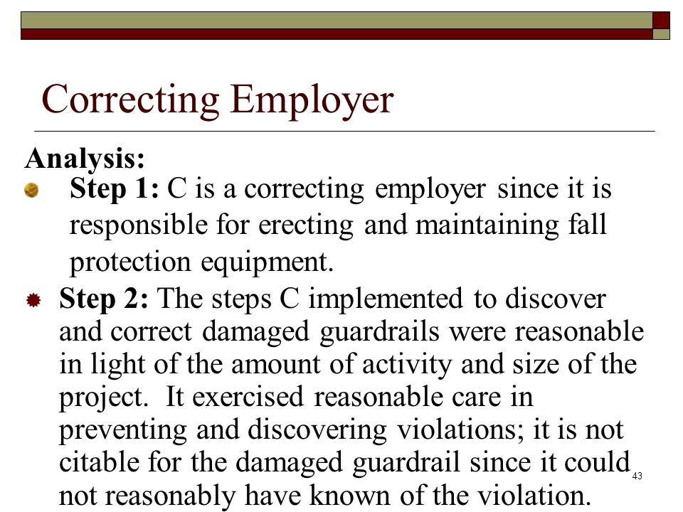 Correcting Employer Analysis: