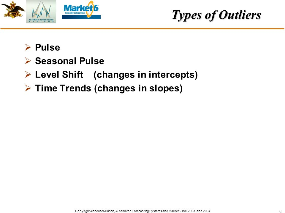 Types of Outliers Pulse Seasonal Pulse