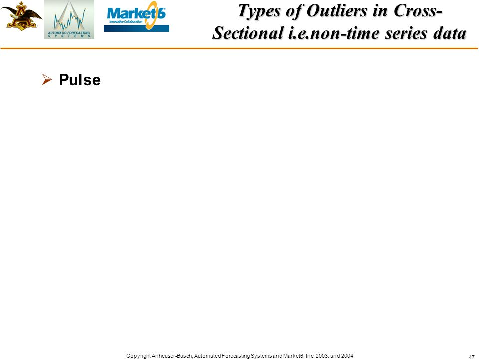 Types of Outliers in Cross-Sectional i.e.non-time series data