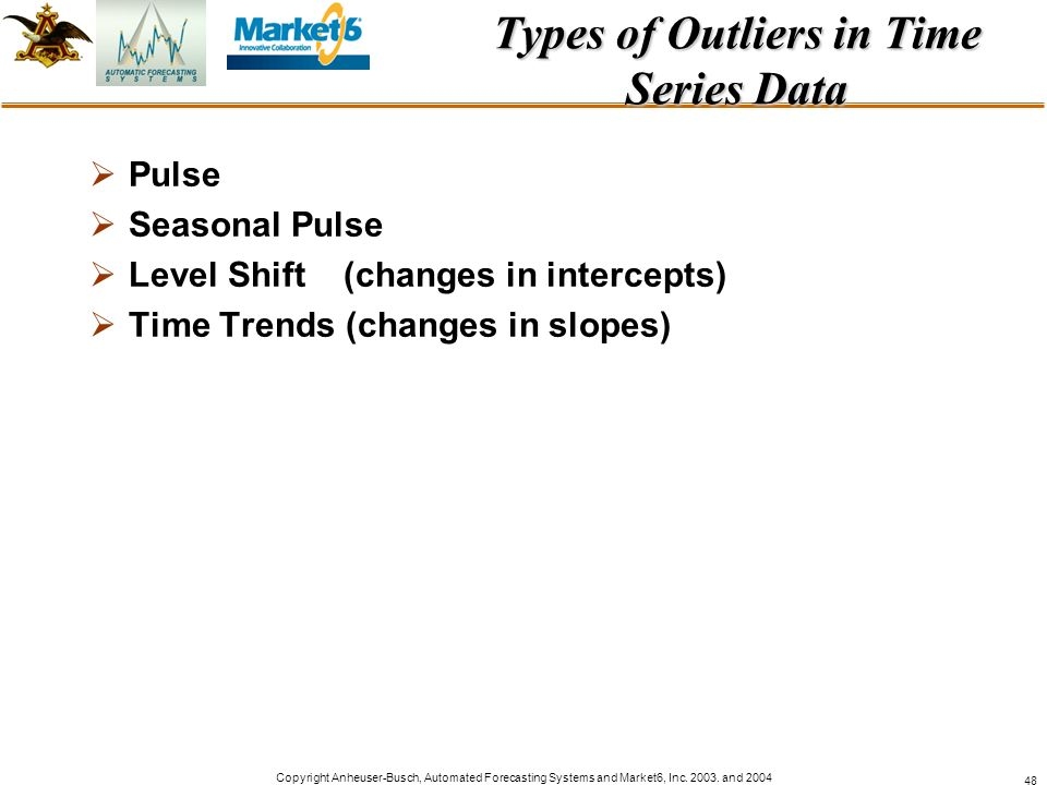 Types of Outliers in Time Series Data