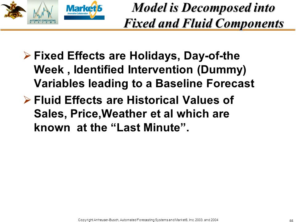 Model is Decomposed into Fixed and Fluid Components