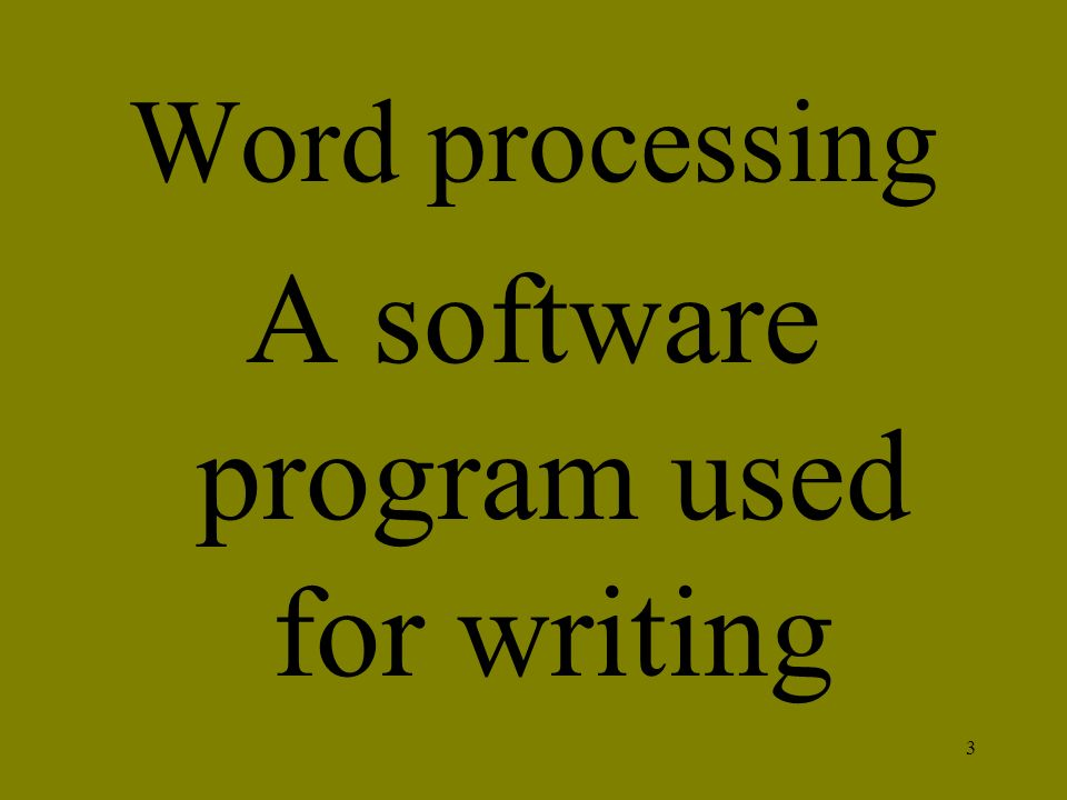 A software program used for writing
