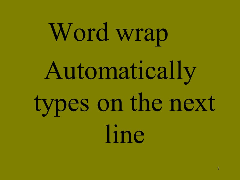 Automatically types on the next line