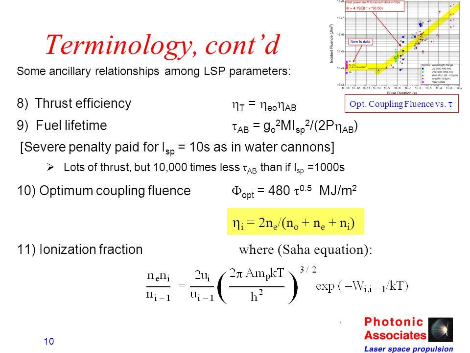 Terminology, cont'd i = 2ne/(no + ne + ni)