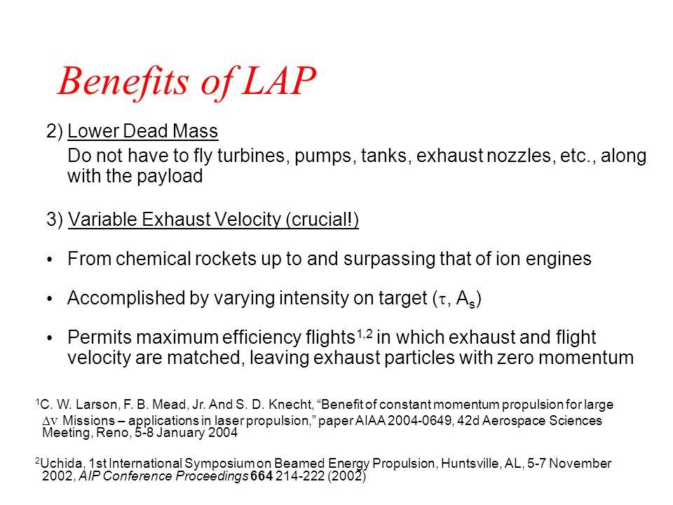 Benefits of LAP 2) Lower Dead Mass