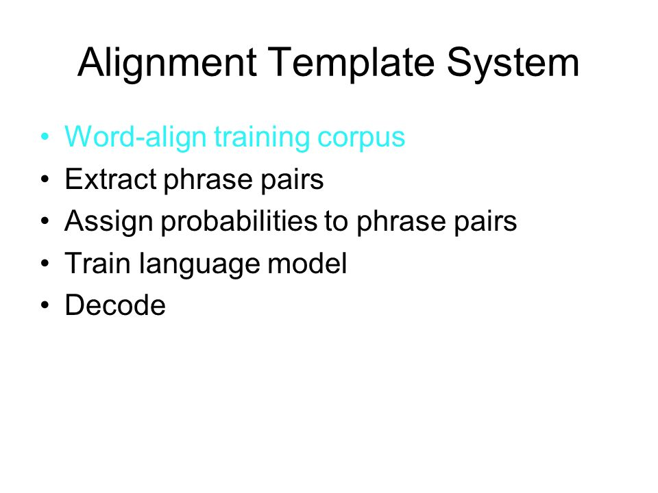 Alignment Template System