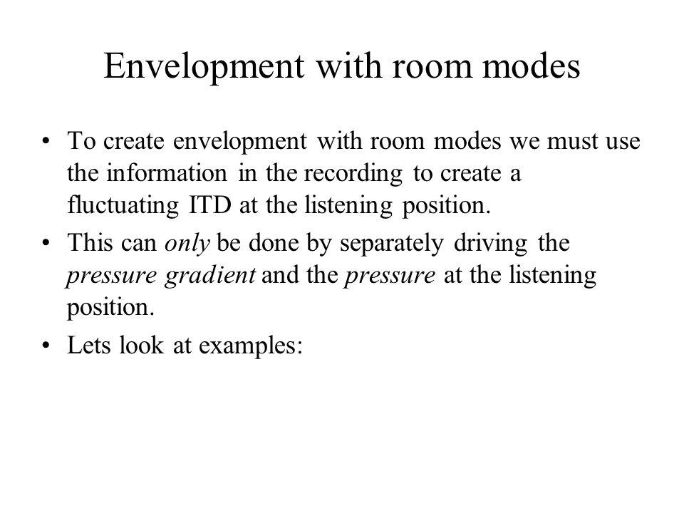 Envelopment with room modes