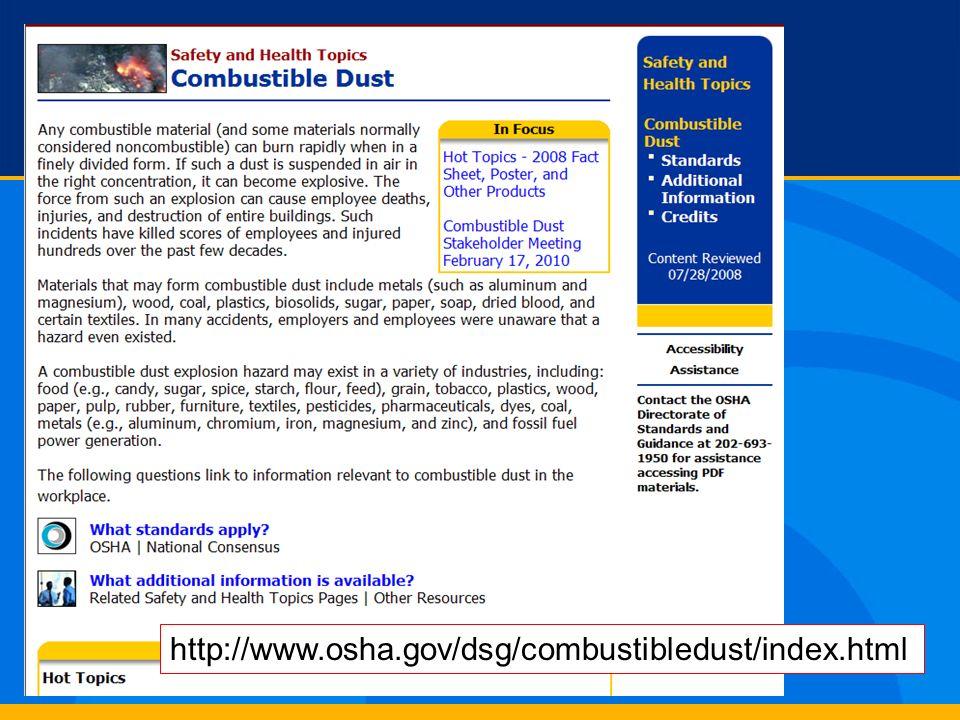 http://www.osha.gov/dsg/combustibledust/index.html