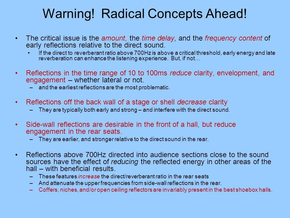 Warning! Radical Concepts Ahead!