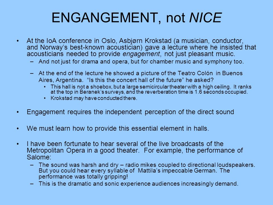 ENGANGEMENT, not NICE