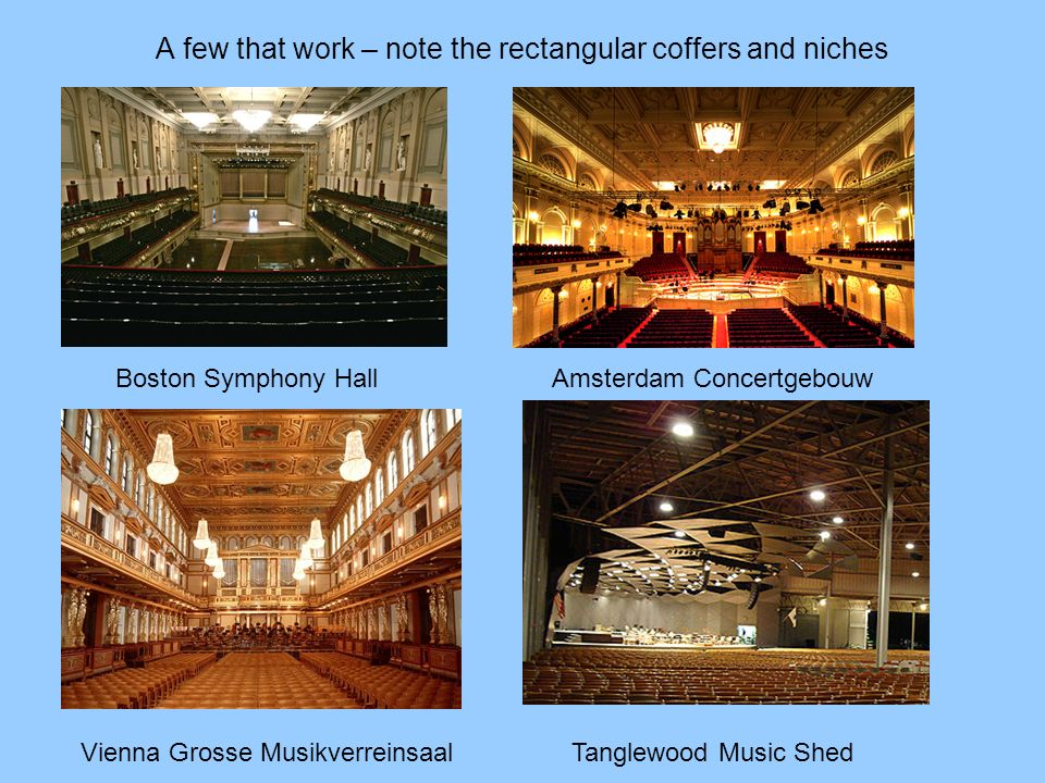 A few that work – note the rectangular coffers and niches