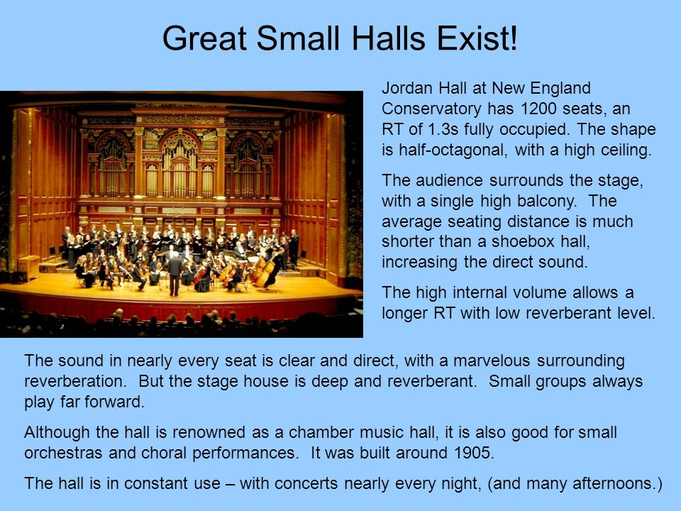 Great Small Halls Exist!
