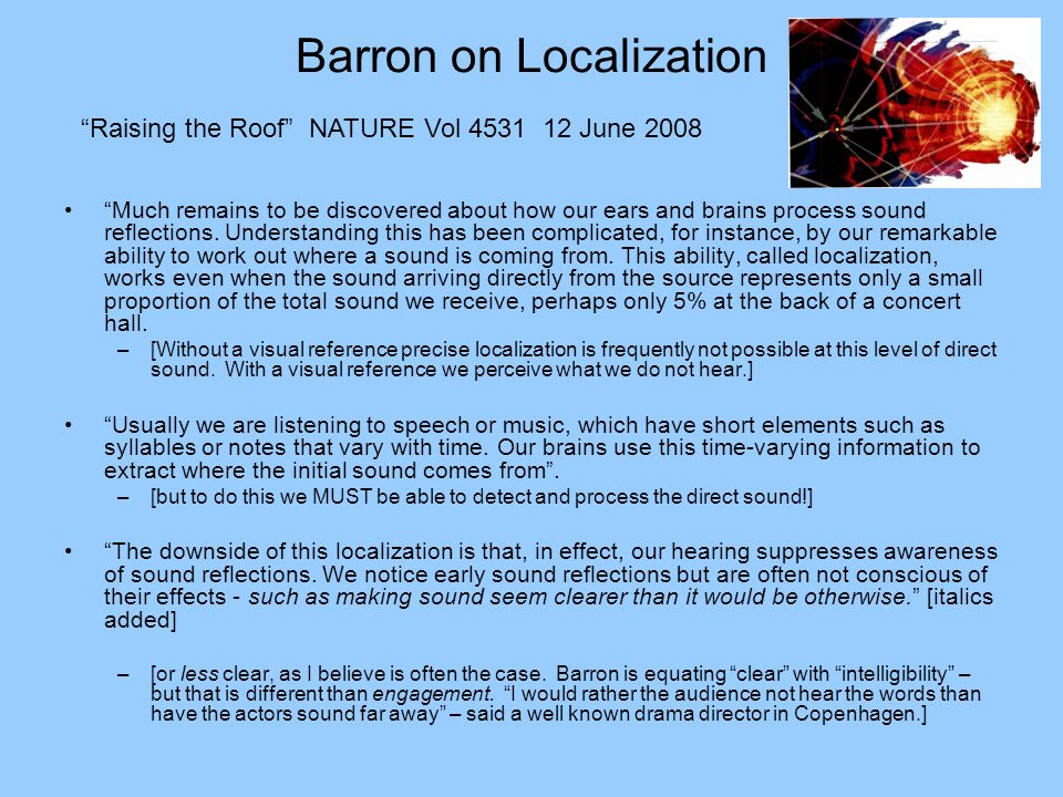 Barron on Localization