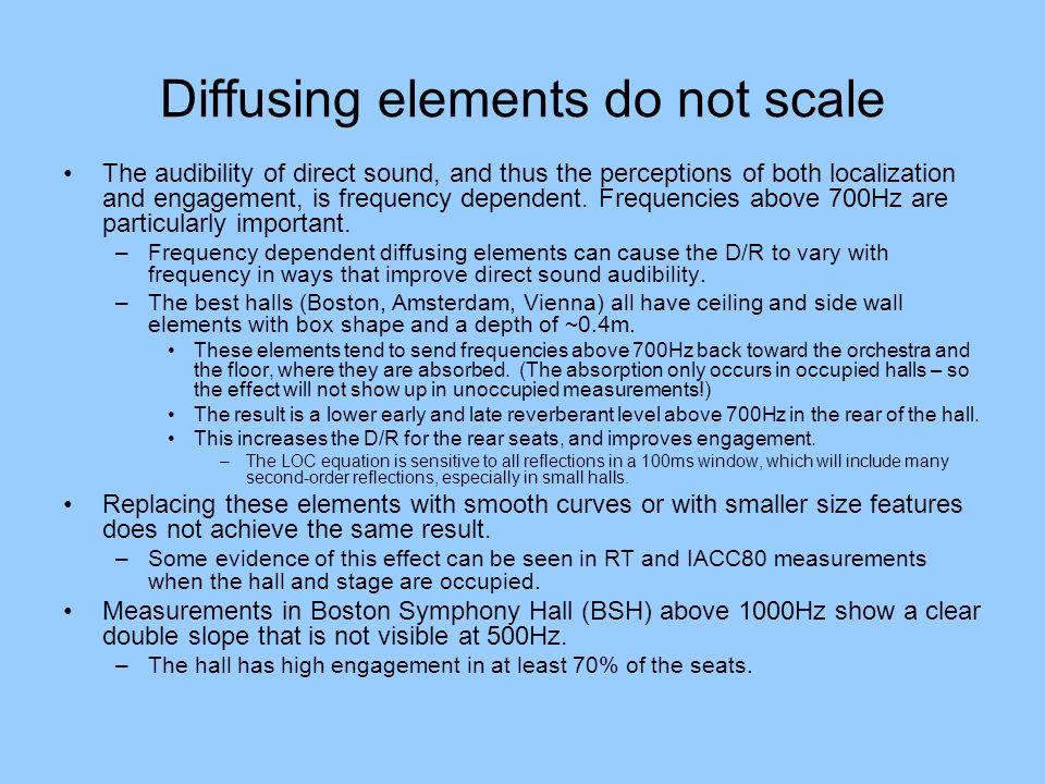 Diffusing elements do not scale