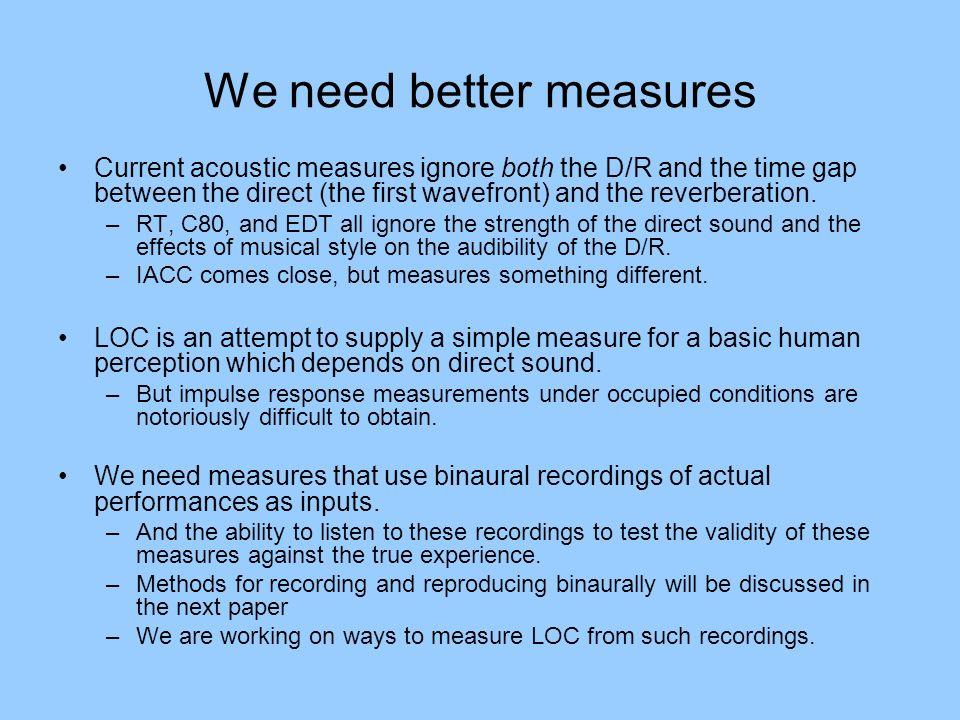 We need better measures