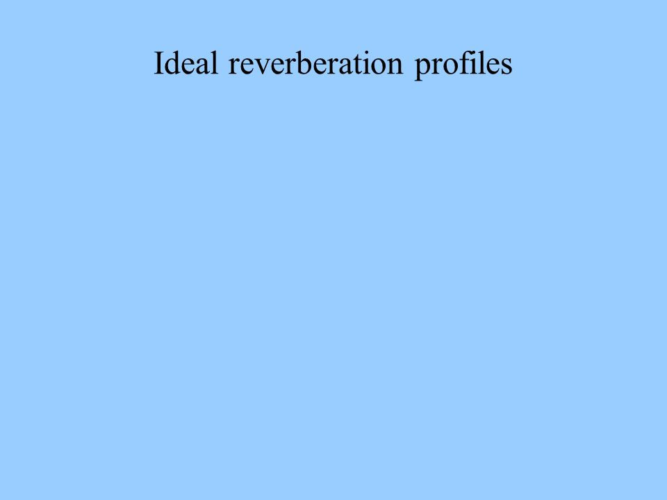 Ideal reverberation profiles