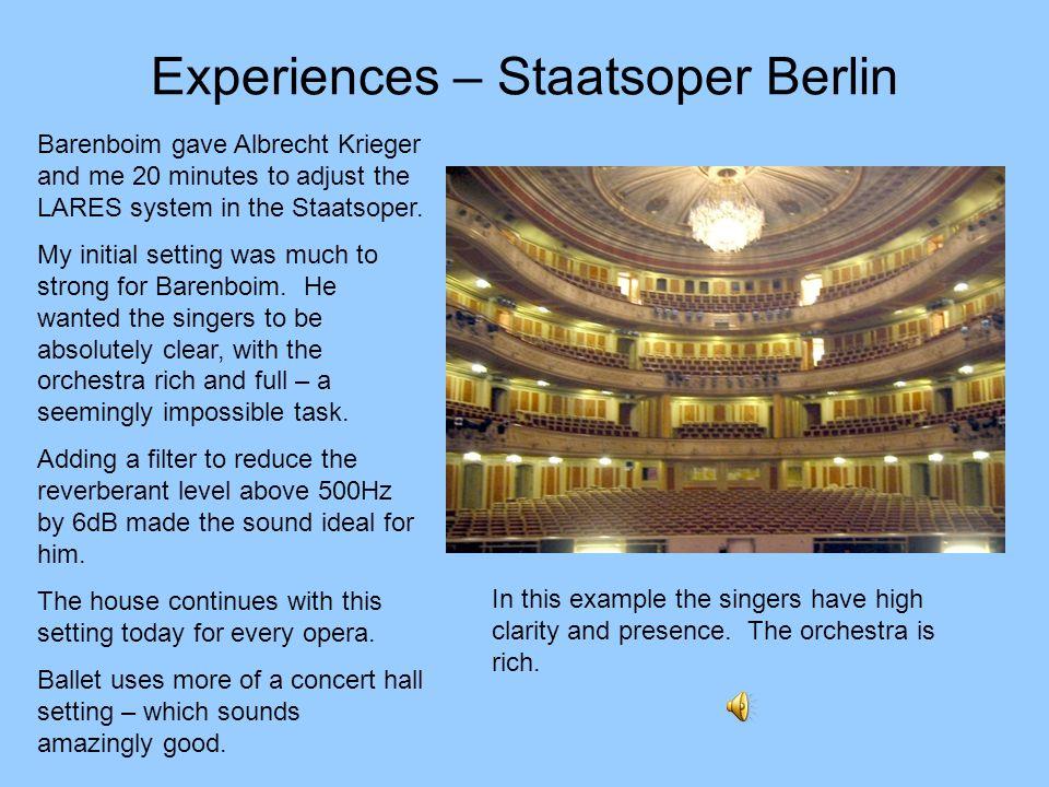 Experiences – Staatsoper Berlin