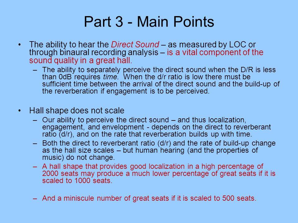 Part 3 - Main Points