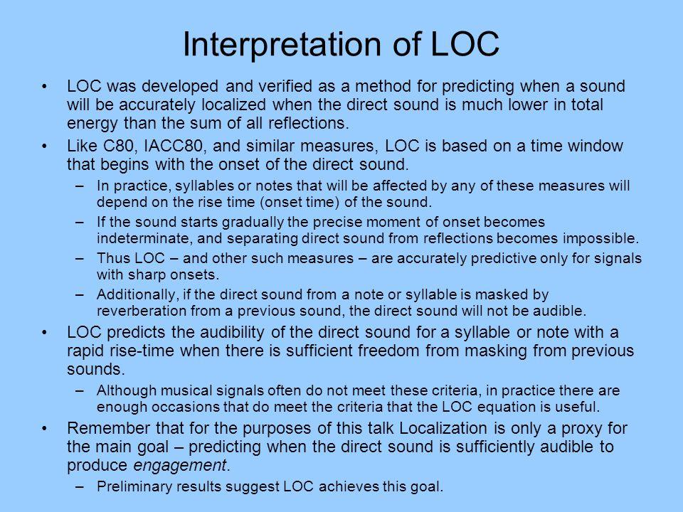Interpretation of LOC
