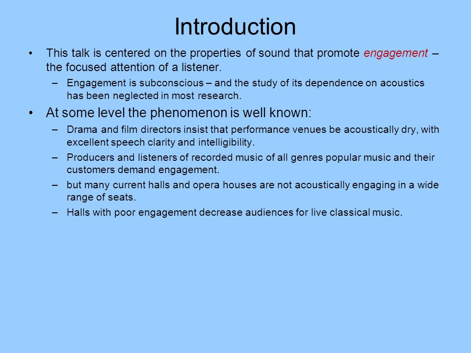 Introduction At some level the phenomenon is well known: