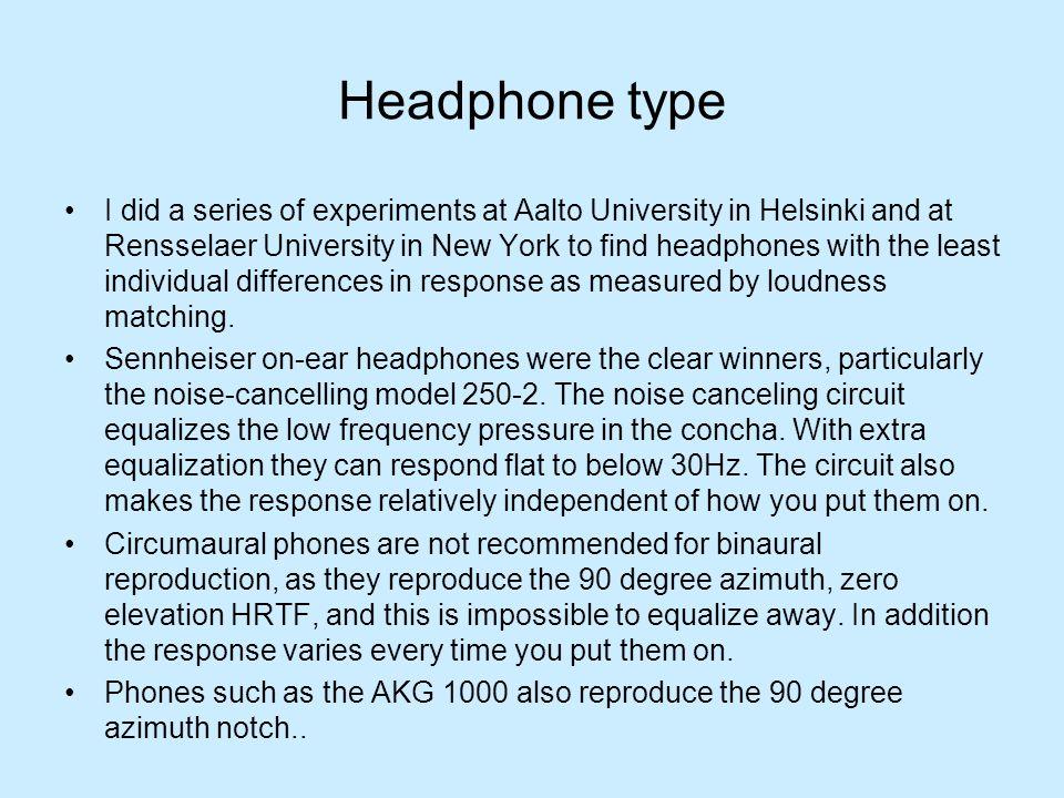 Headphone type