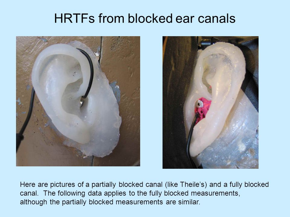HRTFs from blocked ear canals