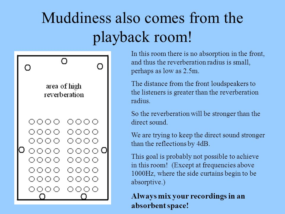 Muddiness also comes from the playback room!