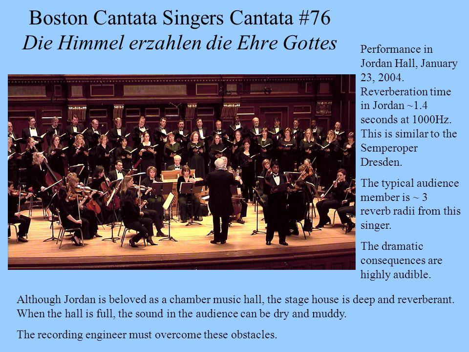 Boston Cantata Singers Cantata #76 Die Himmel erzahlen die Ehre Gottes