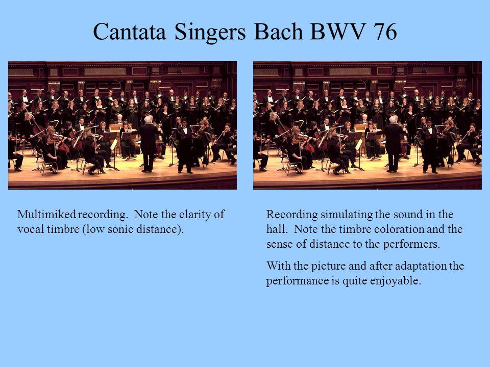 Cantata Singers Bach BWV 76