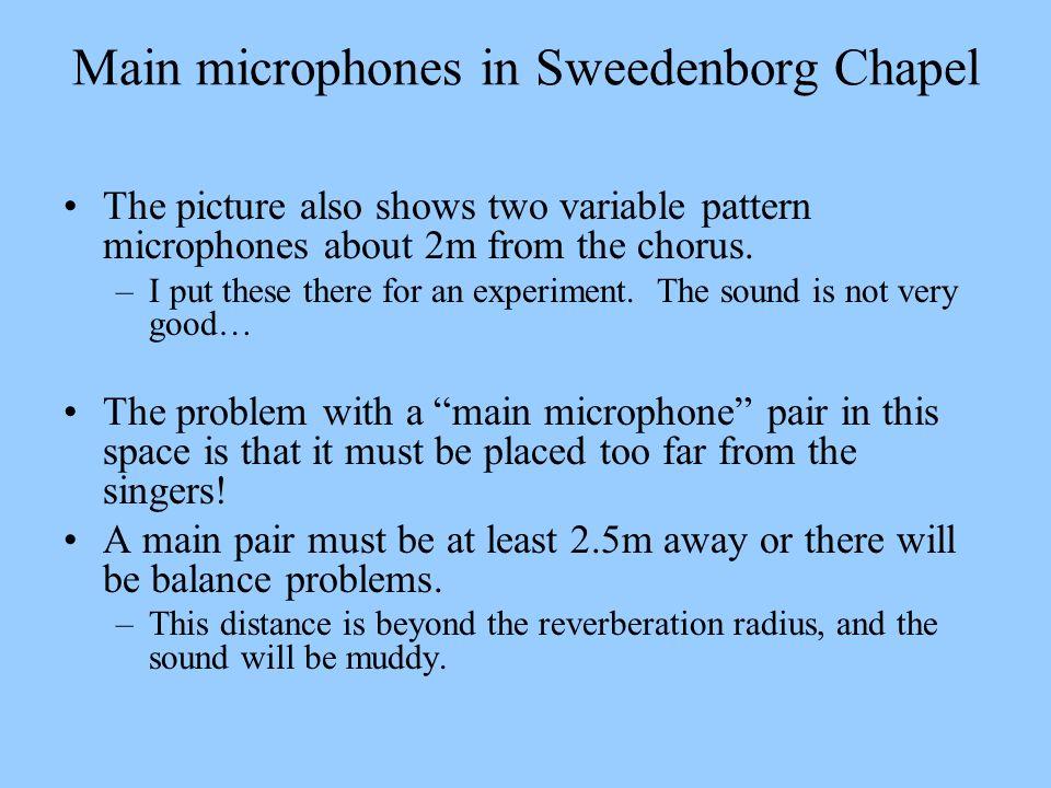 Main microphones in Sweedenborg Chapel