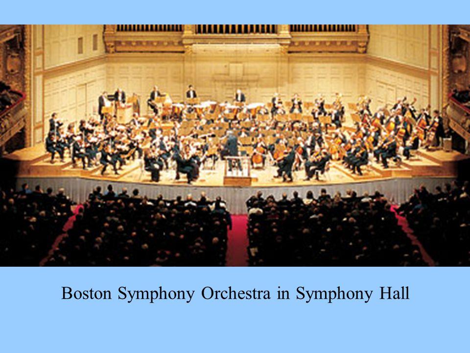 Boston Symphony Orchestra in Symphony Hall
