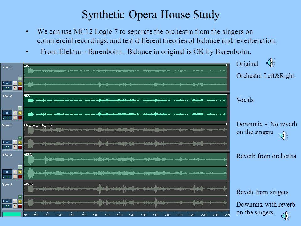 Synthetic Opera House Study