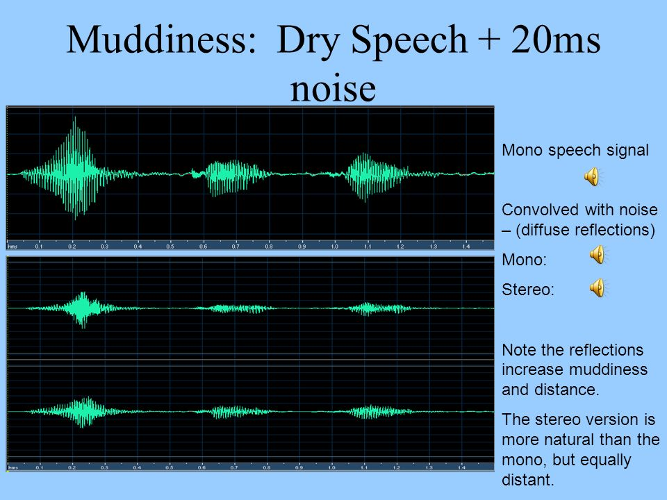 Muddiness: Dry Speech + 20ms noise