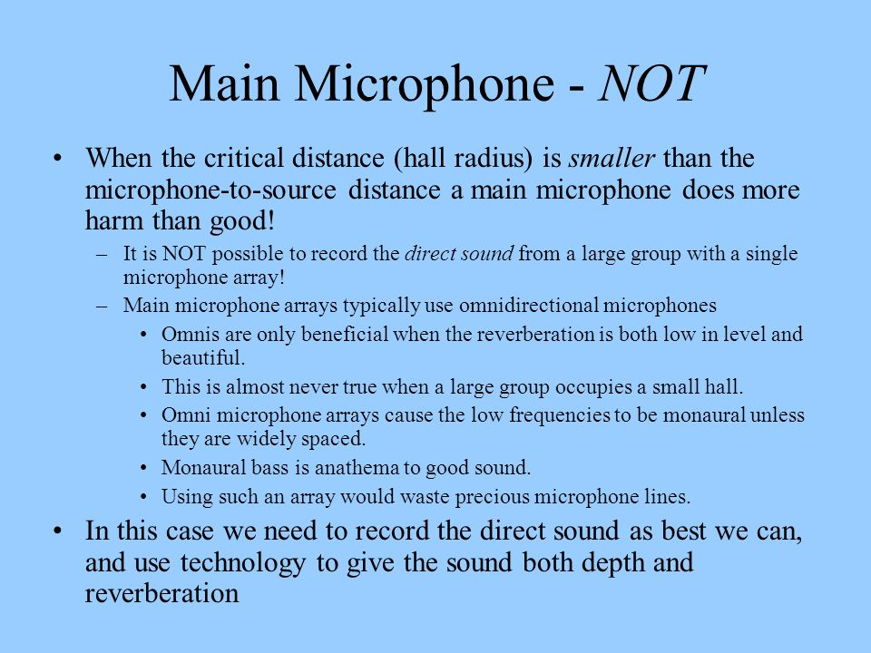 Main Microphone - NOT