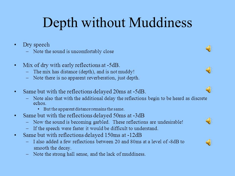 Depth without Muddiness