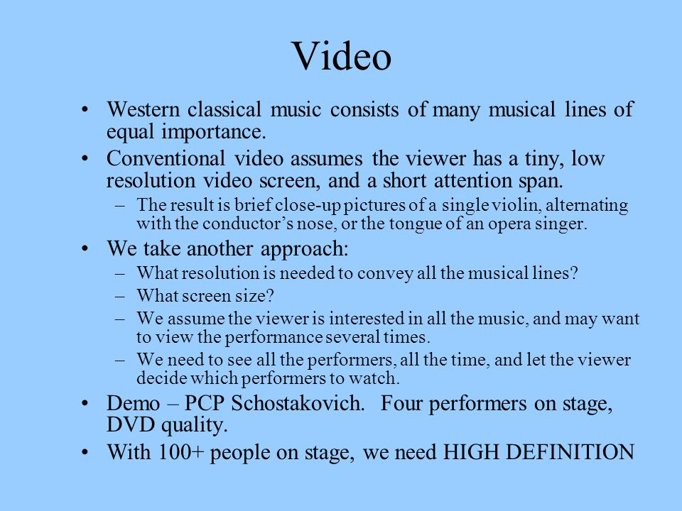 Video Western classical music consists of many musical lines of equal importance.