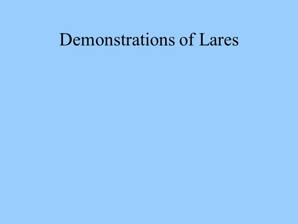 Demonstrations of Lares