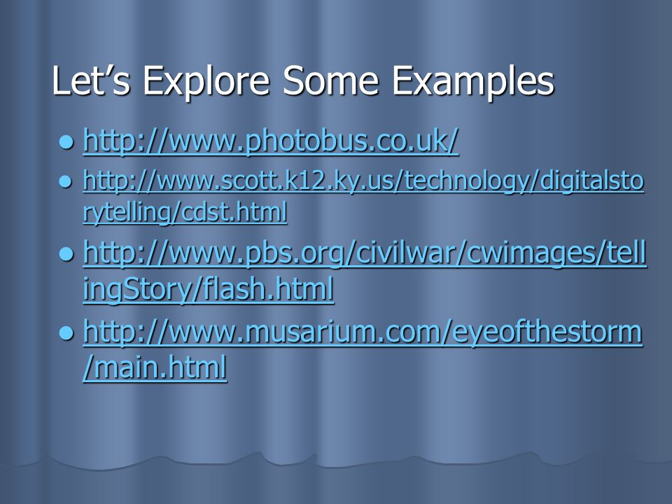 Let's Explore Some Examples