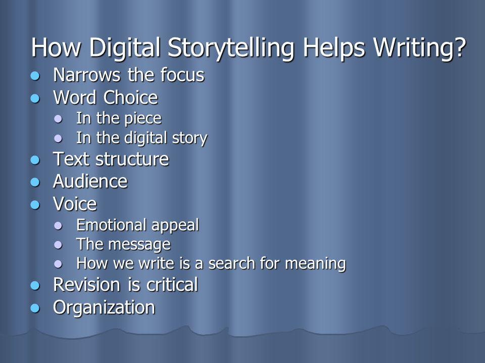 How Digital Storytelling Helps Writing