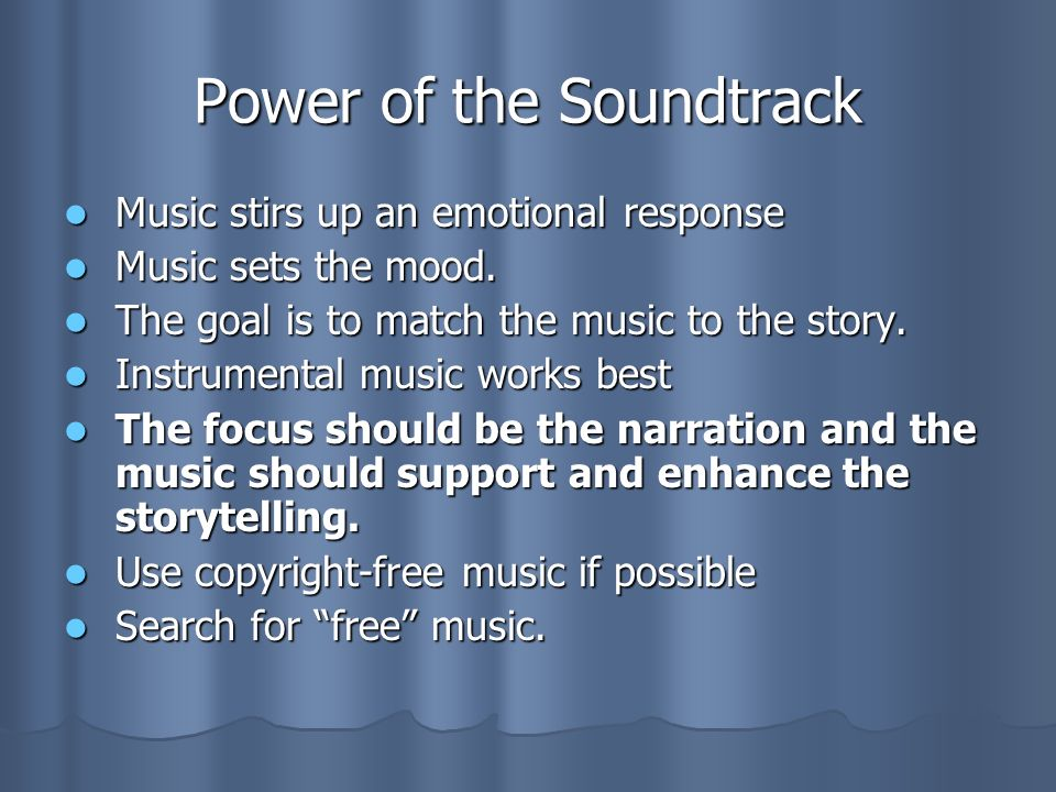 Power of the Soundtrack