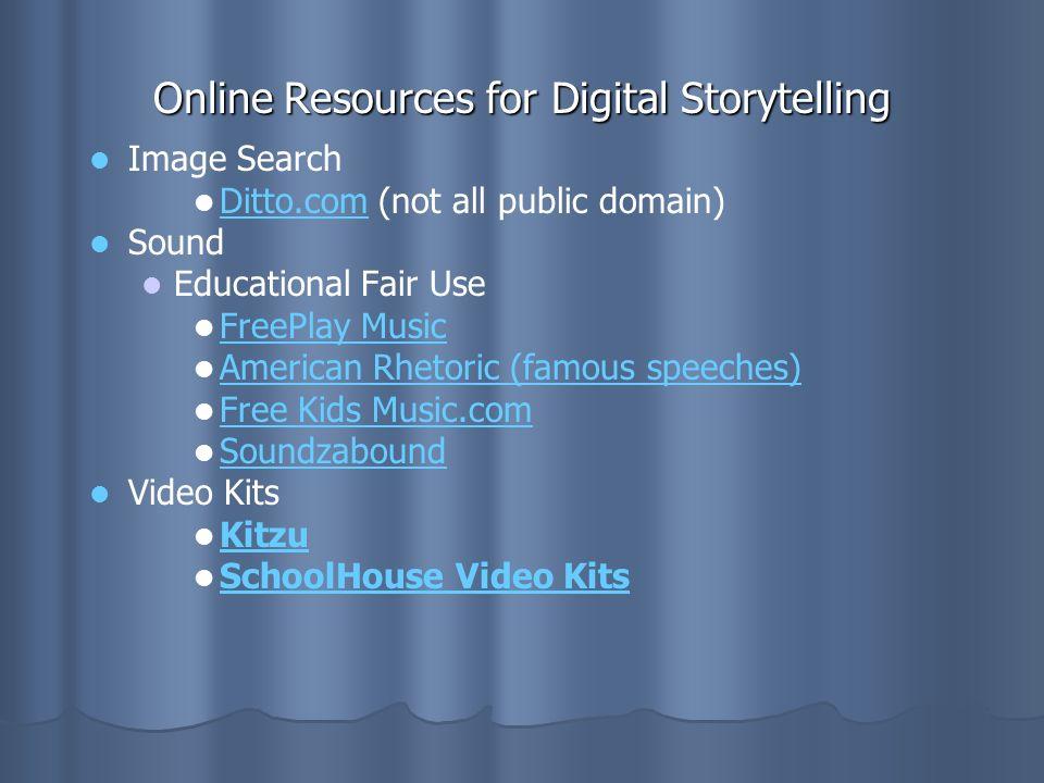 Online Resources for Digital Storytelling