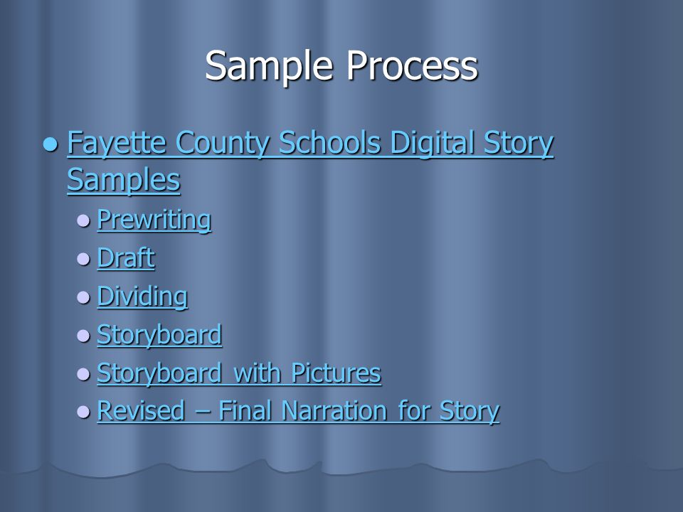 Sample Process Fayette County Schools Digital Story Samples Prewriting