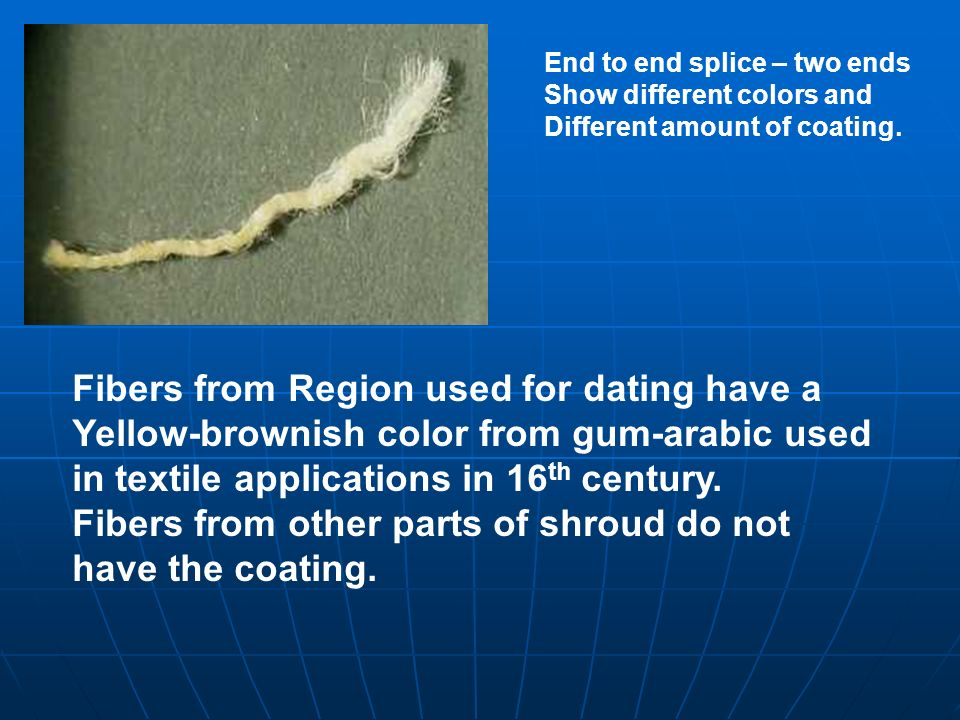 Fibers from Region used for dating have a
