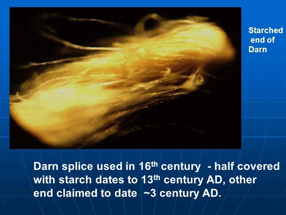 Darn splice used in 16th century - half covered